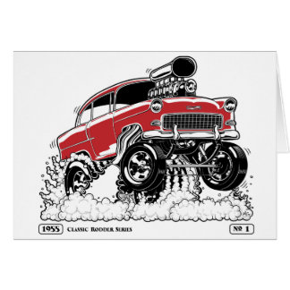 LIVE TO ROD 1955 Gasser Card