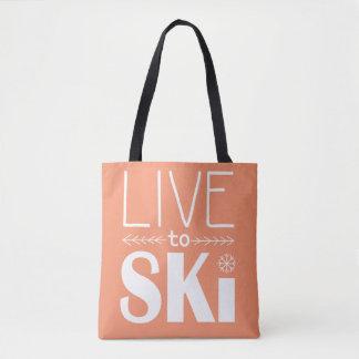 Live to Ski bag - orange