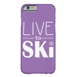 Live to Ski phone case (basic) - purple