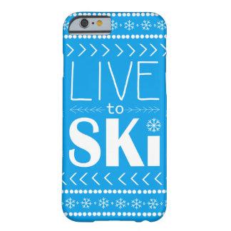Live to Ski phone case - blue