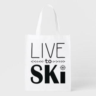 Live to Ski reusable bag