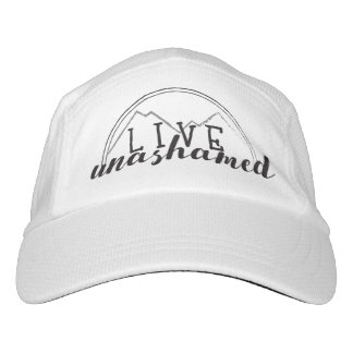Live Unashamed Custom Knit Performance Hat, White Hat