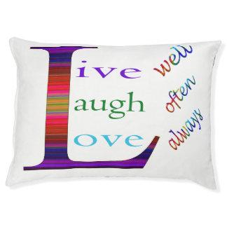 Live Well, Laugh Often, Love Always Pet Bed