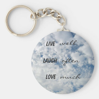 live well laugh often love much key ring