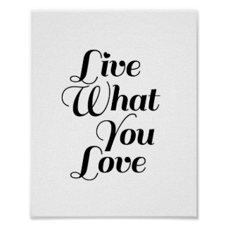 Live What - Motivational Quote Print in White