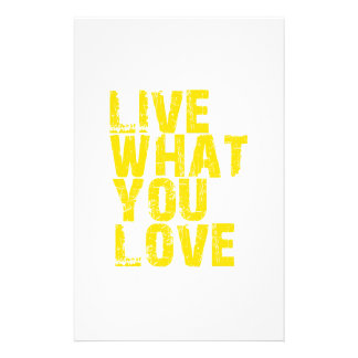 live what you love stationery