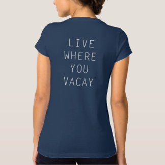 Live Where You Vacay Dark Grey Graphic Tee