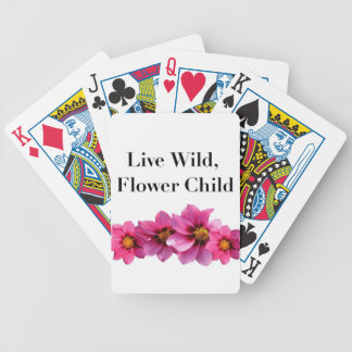 Live Wild Flower Child Bicycle Playing Cards