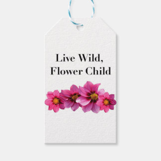 Live Wild Flower Child Gift Tags