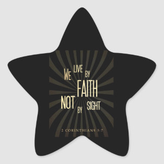 Live with Faith not by Sight Star Sticker