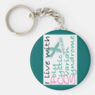 Live with PCOS Key Ring