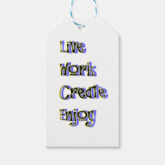 live work create enjoy gift tags