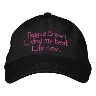 Live your best life embroidered hat