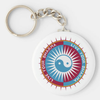 Live Your Dharma Key Ring