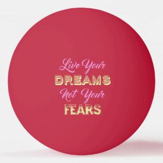 Live Your Dreams custom monogram ping pong balls