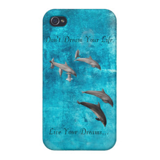 Live Your Dreams Dolphins iphone4 shell iPhone 4 Covers