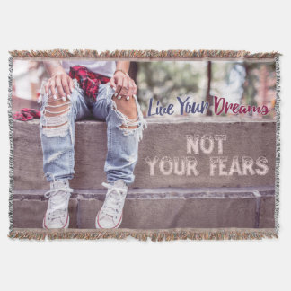 Live Your Dreams throw blanket