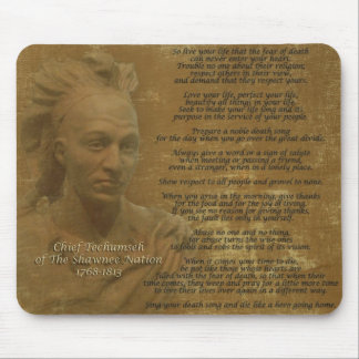 """""""Live Your Life""""  Chief Tecumseh mousepad"""