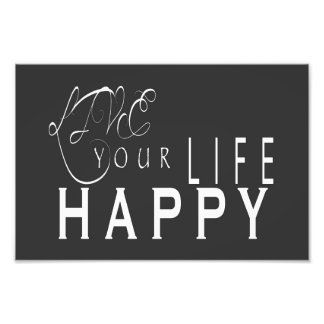 Live Your Life Happy Wedding Print 6X4, 12X8 Photo Art