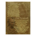"""""""Live Your Life""""  on old parchment, Chief Tecumseh"""