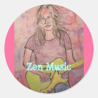 Live Zen Music Girl Sketch Stickers