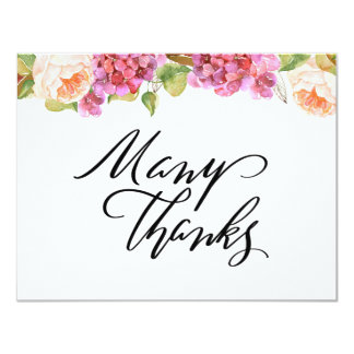 Lively Florals Thank You Card