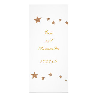 Lively Gold Stars, menu cards Rack Card Template