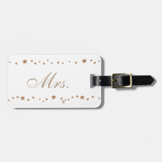 Lively Gold Stars Mrs Luggage Tags