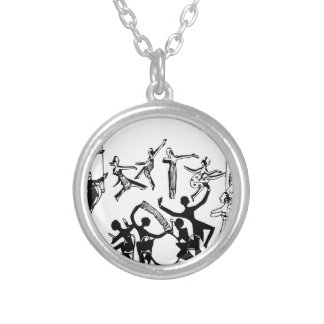Lively Party with Dancing Silver Plated Necklace