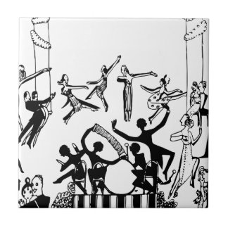 Lively Party with Dancing Tile