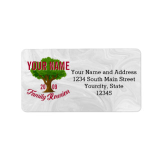 Lively Tree Personalised Family Reunion Address Label