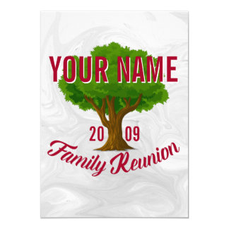 Lively Tree Personalised Family Reunion Card