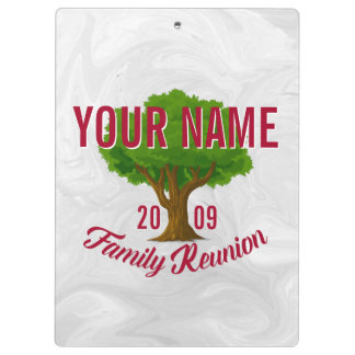 Lively Tree Personalised Family Reunion Clipboards