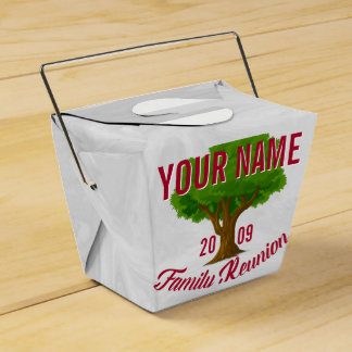Lively Tree Personalised Family Reunion Party Favour Boxes