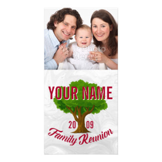 Lively Tree Personalised Family Reunion Photo Card