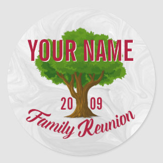 Lively Tree Personalised Family Reunion Round Sticker