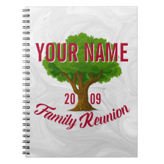 Lively Tree Personalised Family Reunion Spiral Notebook