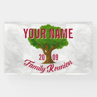 Lively Tree Personalized Family Reunion Banner
