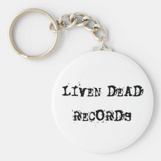 LIVEN DEAD RECORDS BASIC ROUND BUTTON KEY RING