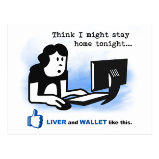 Liver and Wallet Like This Postcard