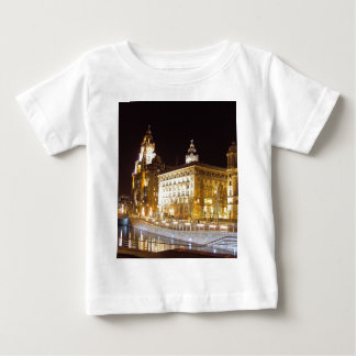 Liver Building & Canal, Liverpool UK Baby T-Shirt