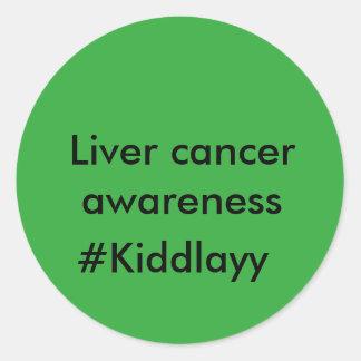Liver cancer awareness stickers #Kiddlayy