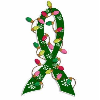 Liver Cancer Christmas Lights Ribbon Photo Cutout