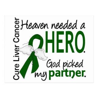 Liver Cancer Heaven Needed a Hero Partner Postcard