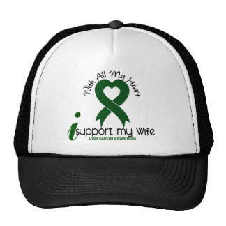 LIVER CANCER I Support My Wife Mesh Hats