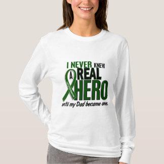 Liver Cancer NEVER KNEW A HERO 2 Dad T-Shirt