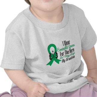 Liver Cancer Ribbon Hero My Grandma Shirt