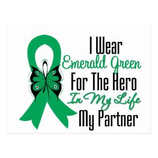 Liver Cancer Ribbon Hero My Partner Postcard