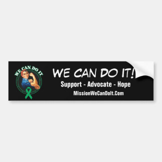 Liver Cancer - Rosie The Riveter - We Can Do It Bumper Sticker