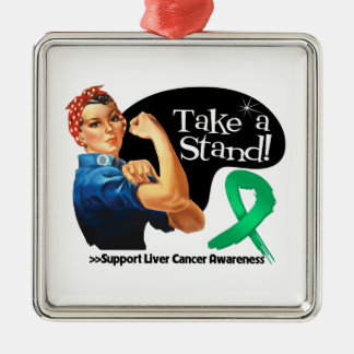 Liver Cancer Take a Stand Christmas Tree Ornaments